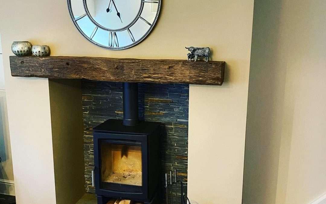Fireplace Restored, Plastered & Tiled